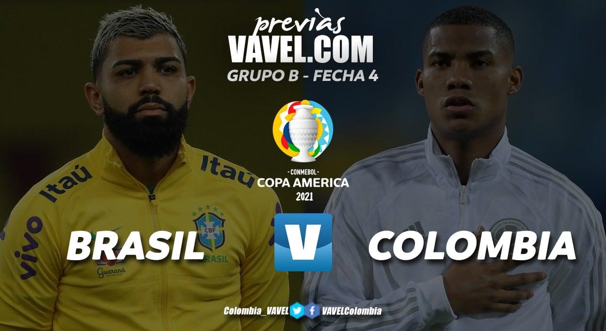 Brasil recibe a Colombia que sueña con seguir en la copa