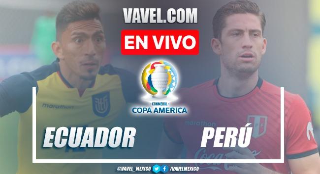 Goles y resumen del Ecuador 2-2 Perú en Copa America 2021