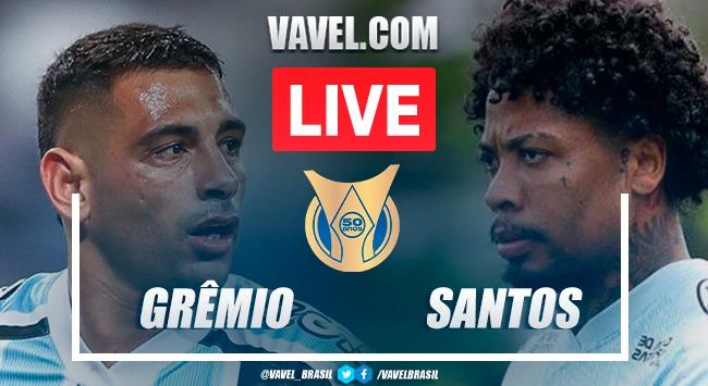 Gols e melhores momentos de Grêmio 2x2 Santos pelo Campeonato Brasileiro