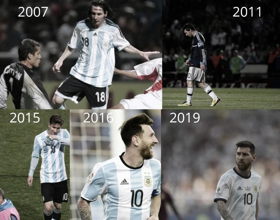 """El historial de la """"Pulga"""" en cuartos de Copa América"""