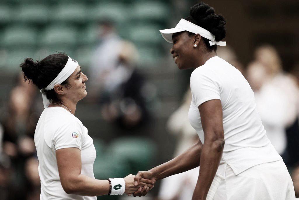 Jabeur deslancha no segundo set e elimina Venus Williams em Wimbledon