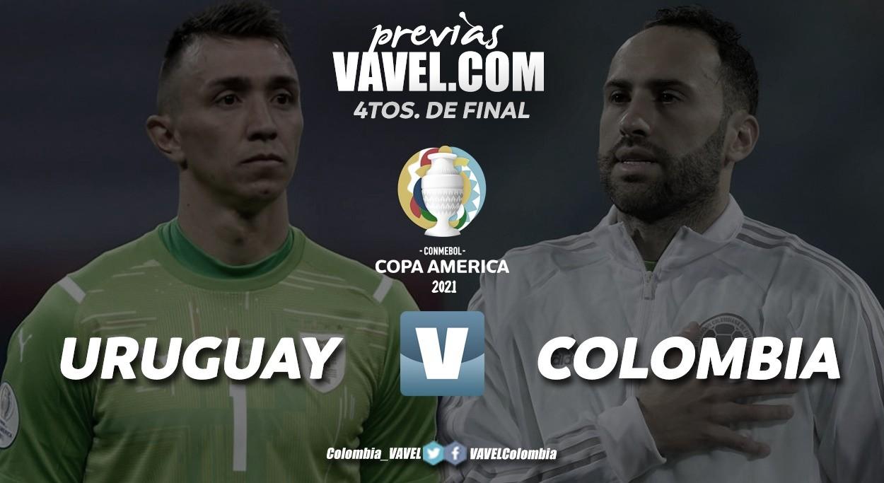 Previa Uruguay vs Colombia: objetivo semifinal con tinte celeste y amarillo