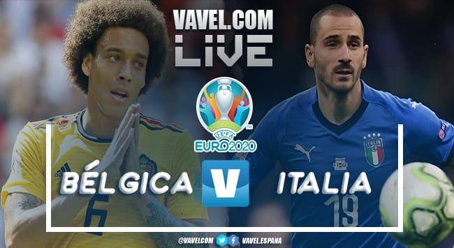 Resumen Bélgica vs Italia en la Eurocopa 2021 (1-2)