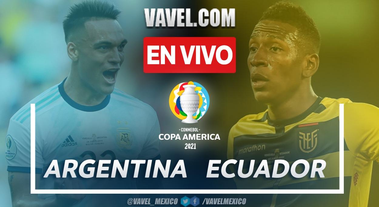 Goles y Resumen del Argentina 3-0 Ecuador en Cuartos de Final Copa América 2021