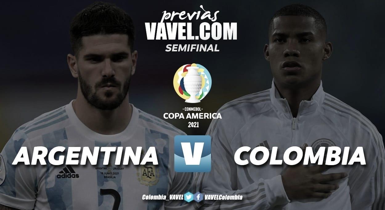 Argentina y Colombia se enfrentan buscando el pase a la final