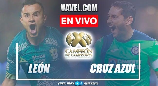 Goles y resumen del León 1-2 Cruz Azul en Campeón de Campeones 2021