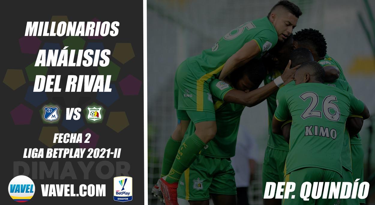 Millonarios, análisis del rival:Deportes Quindío(Fecha 2, Liga 2021-II)