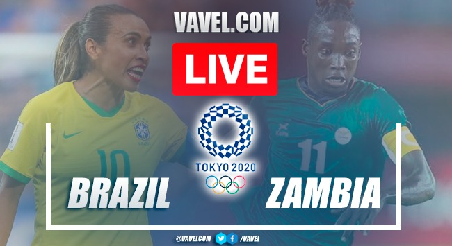 Goal and Highlights of Brazil 1-0 Zambia on Olympic Games Tokyo 2020