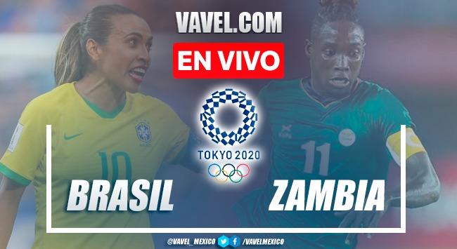 Gol y Resumen del Brasil 1-0 Zambia en fase de grupos de los Juegos Olímpicos Tokio 2020