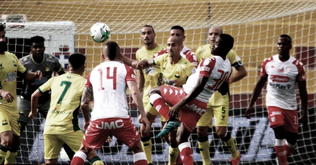 Puntuaciones tras la segunda derrota en línea de Independiente Santa Fe