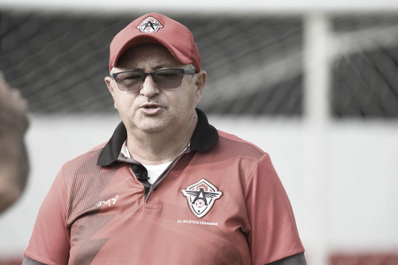 """Raimundo Wagner comemora dois anos no comando do Atlético-CE: """"Espero terminar contrato"""""""