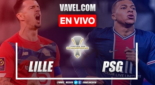 Gol y resumen del LOSC Lille 1-0 PSG en Supercopa Francia 2021