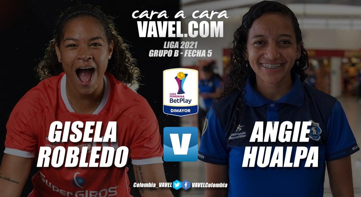 Cara a cara: Gisela Robledo vs Angie Hualpa