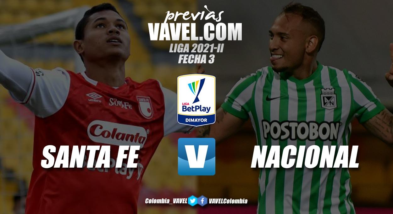 Previa Independiente Santa Fe vs Atlético Nacional: El 'león' busca su primera victoria