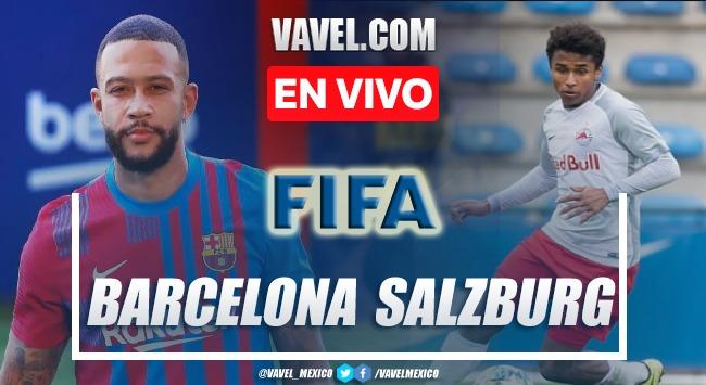 Goles y resumen del Red Bull Salzburgo 2-1 Barcelona en Amistoso 2021