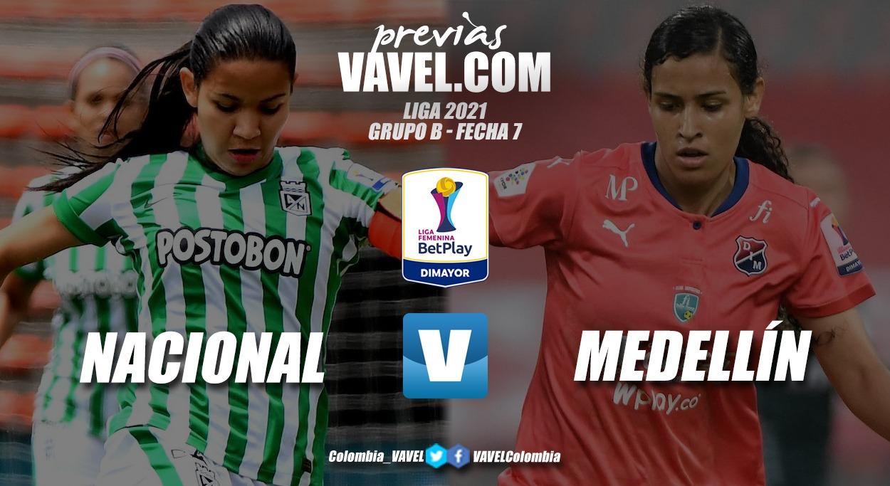 Previa Nacional vs Medellín: clásico por la punta de la tabla en el día de la antioqueñidad