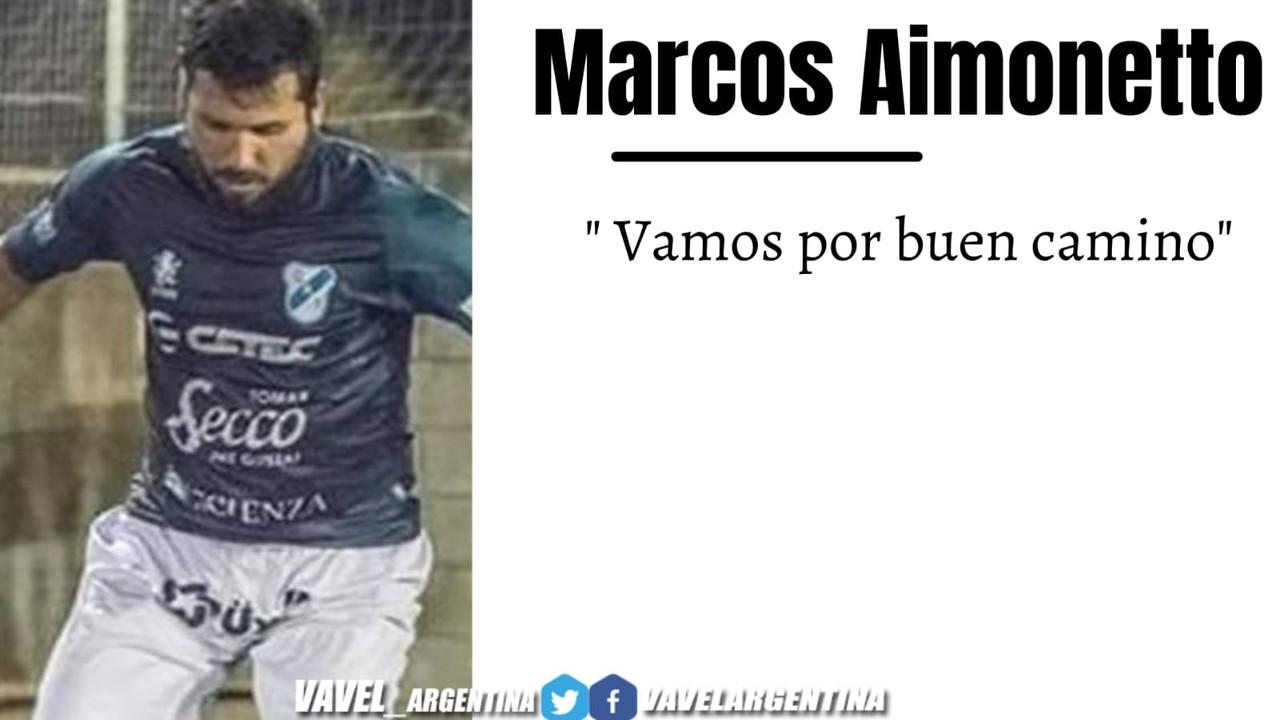 """Marcos Aimonetto: """"Habíamos tocado fondo y pudimos salir"""""""