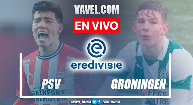 Goles y resumen del PSV 5-2 Groningen FF en Eredivisie 2021