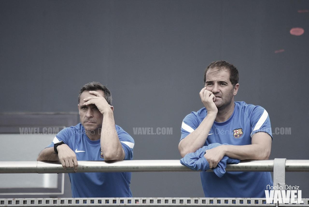 """Sergi Barjuan: """"Los que bajen tienen que saber que su equipo es el Barça B"""""""