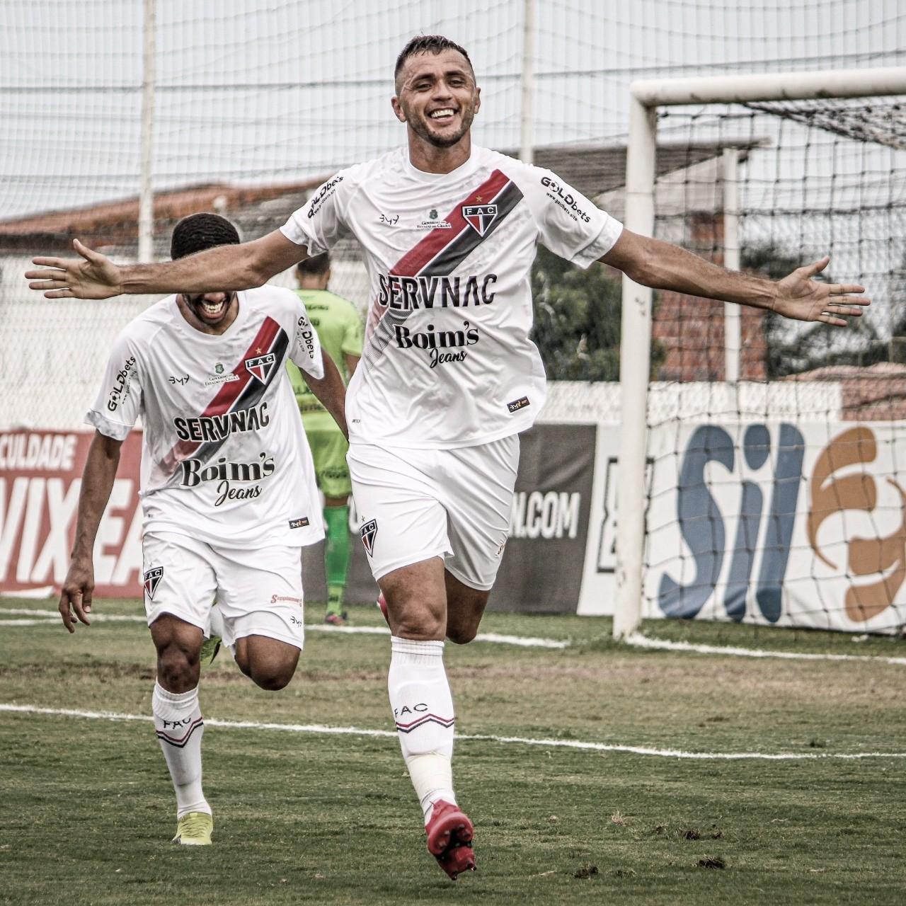 Edson Cariús celebra primeiro gol no retorno ao Ferroviário e projeta duelo contra Manaus