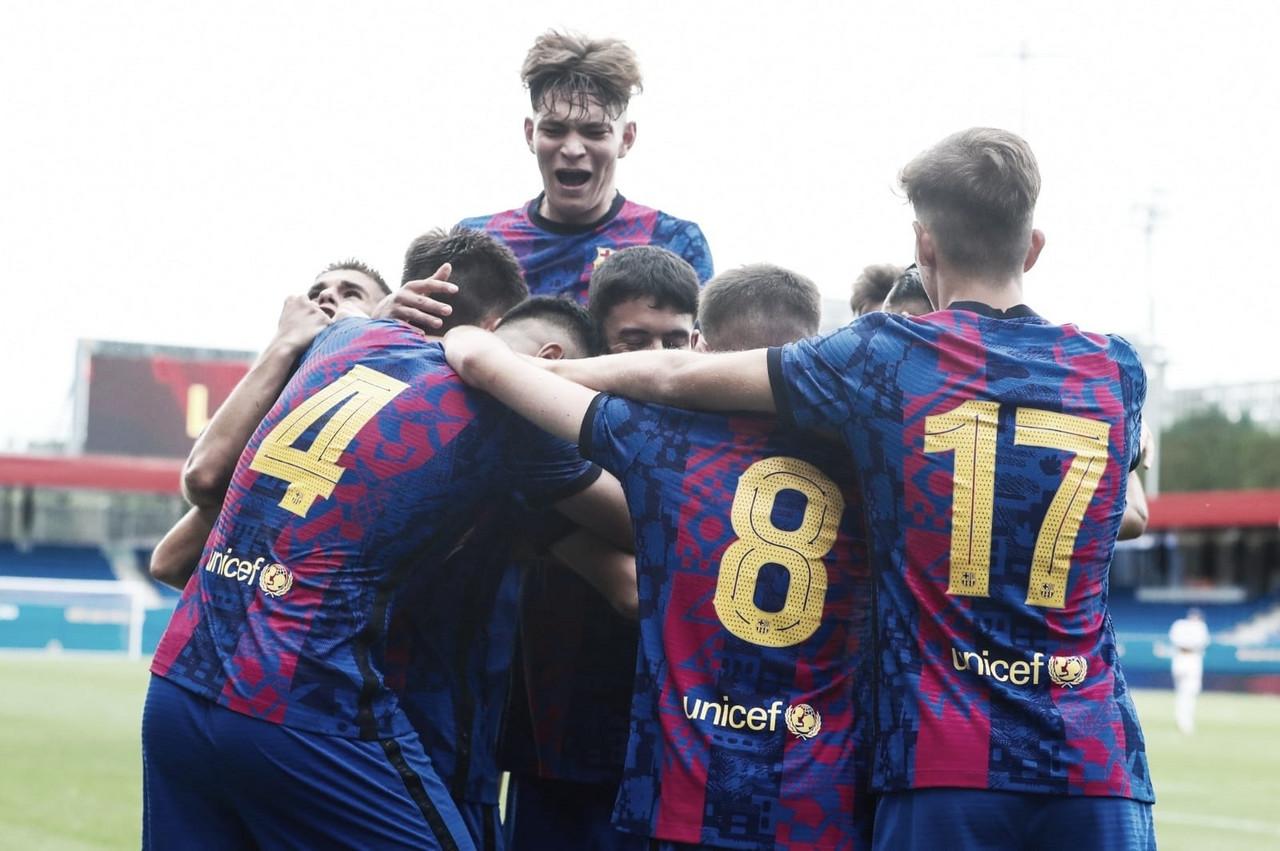 El FCB Juvenil A se exhibe ante el FC Bayern en su estreno en Europa
