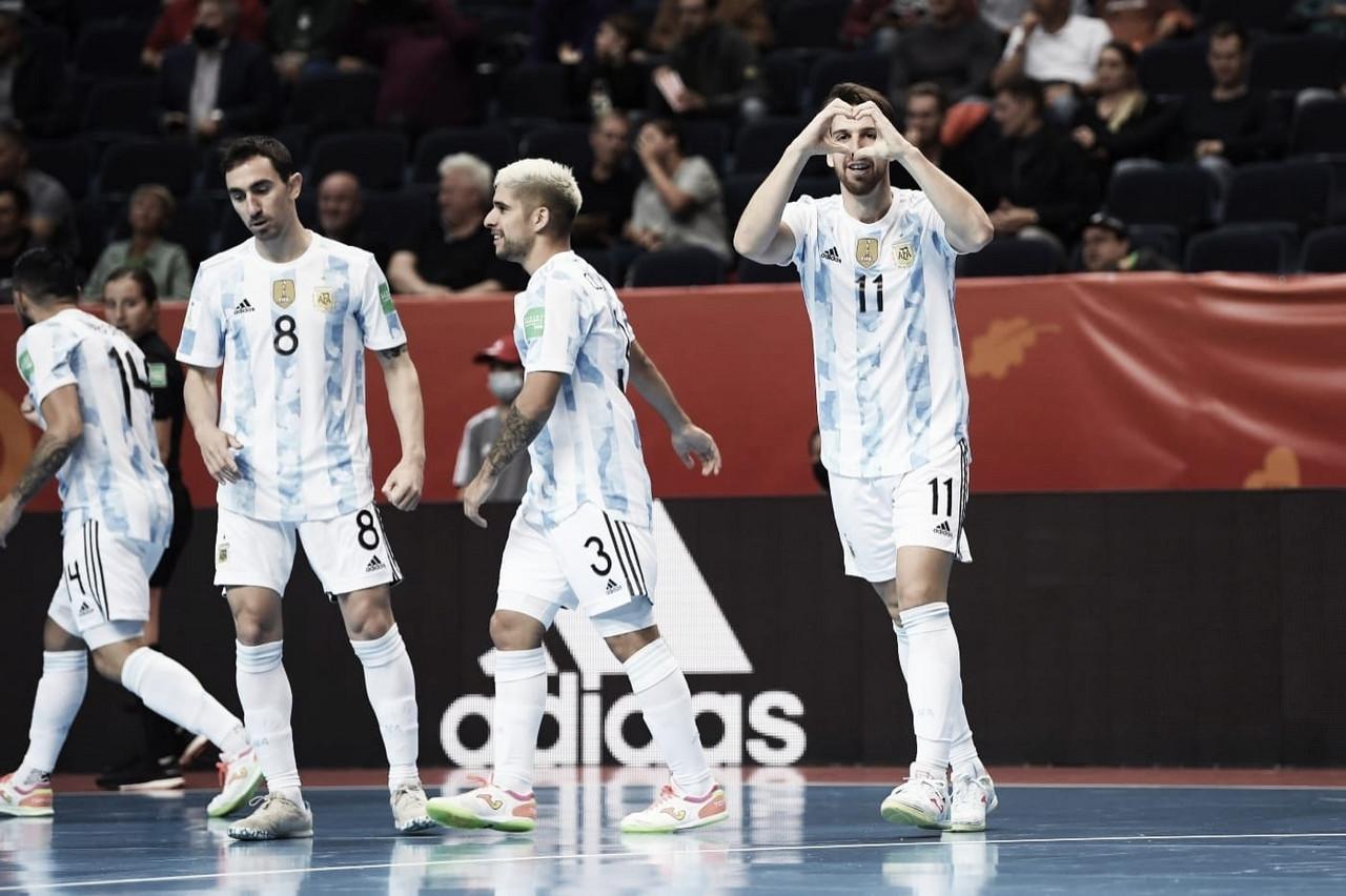Estreno goleador de Argentina en la Copa del Mundo