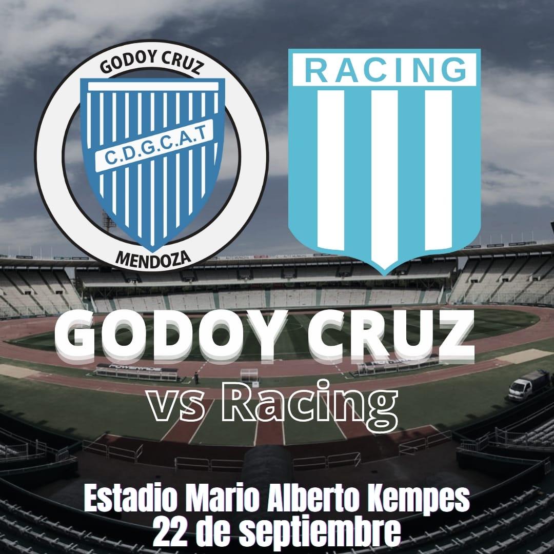 Godoy Cruz vs Racing: Sede y día confirmado