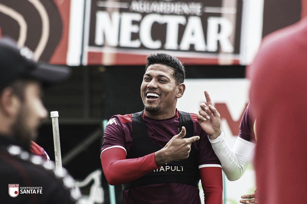 Alexander Mejía, una vez más el jugador destacado en Santa Fe