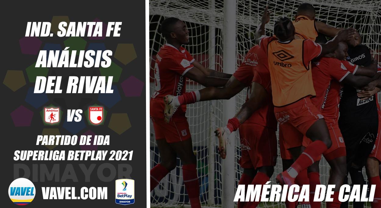 Independiente Santa Fe, análisis del rival: América de Cali (ida, Superliga 2021)