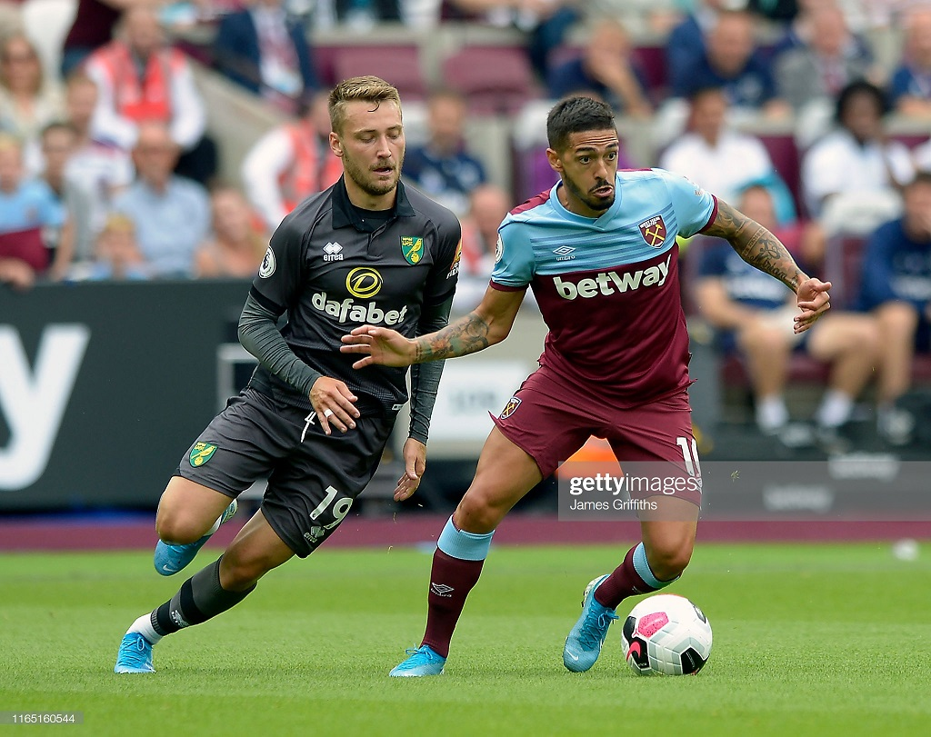 West Ham United 2-0 Norwich City: Hammers ease to first home victory