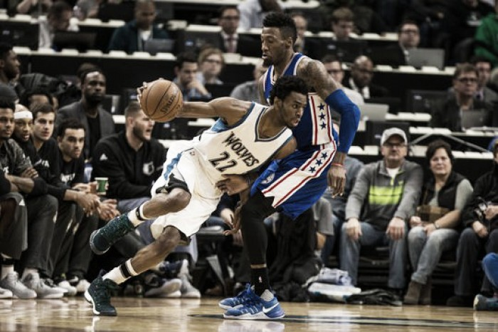 Minnesota Timberwolves trample over the Philadelphia 76ers 110-86, Andrew Wiggins scores 35 points