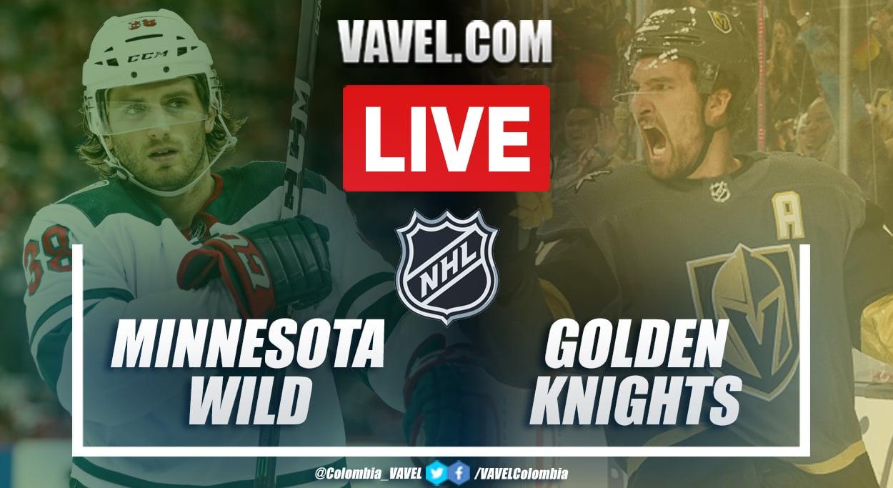 Resumen Minnesota Wild vs Vegas Golden Knights (2-6) en el juego 7 de la ronda 1 por Stanley Cup 2020-21