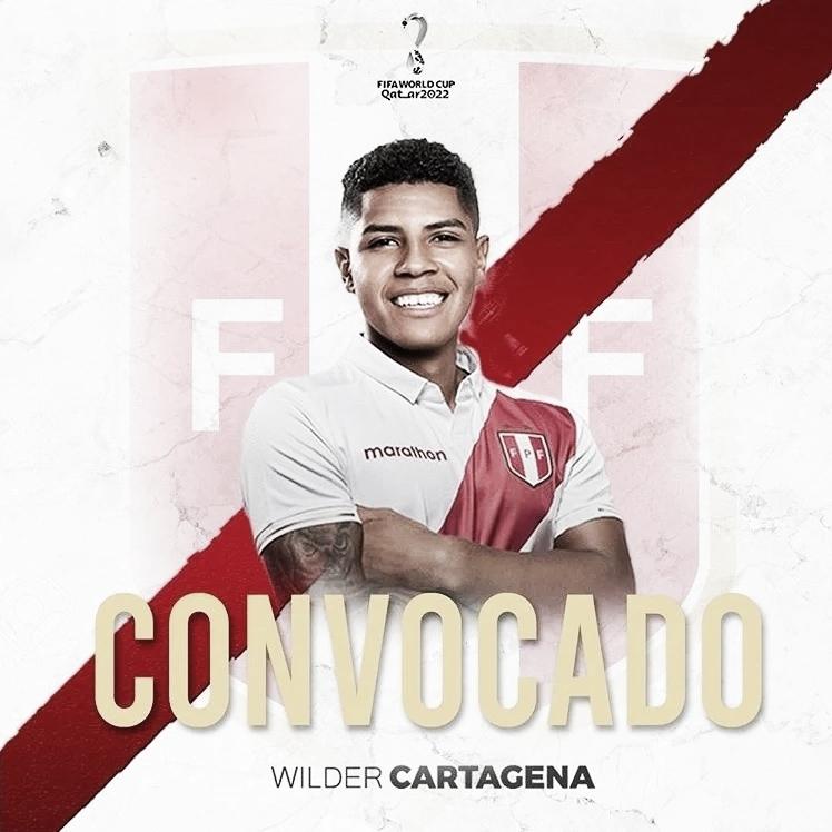 Wilder Cartagena, nuevamente al seleccionado de Perú