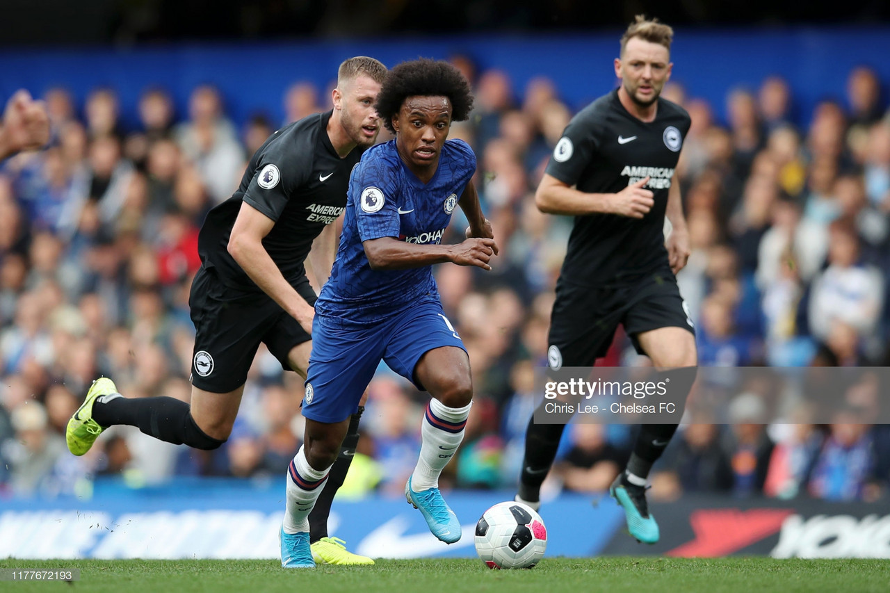 Willian sends message to Chelsea teammates after Brighton victory