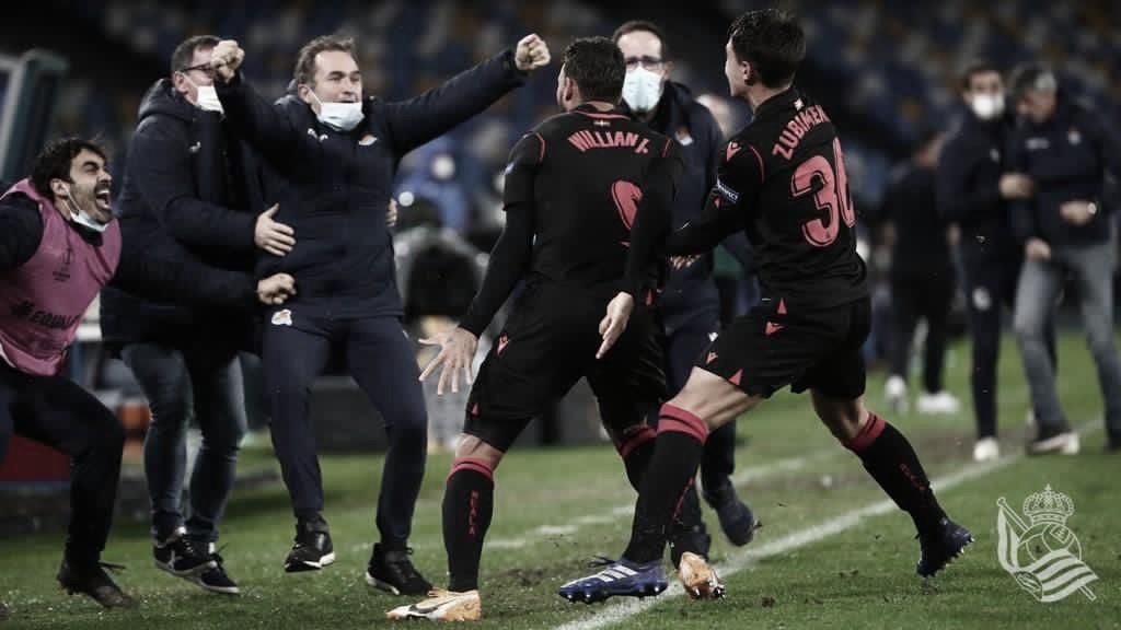 Willian José decide no fim, Real Sociedad empata com Napoli e segue na Europa League