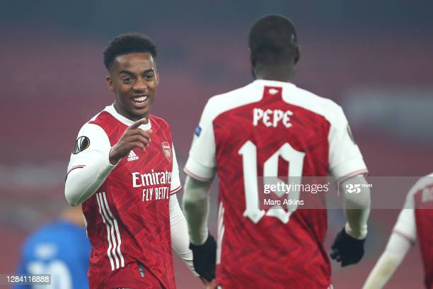 The stars of matchday 3 against Molde FK; Joe Willock (left) and Nicolas Pepe (right).