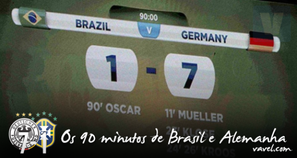 Dois anos do 7 a 1: os 90 minutos de Brasil e Alemanha