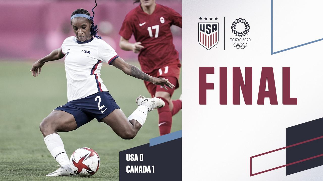 Estados Unidos 0-1 Canadá: la actual campeona del mundo avanza al partido por la medalla de bronce