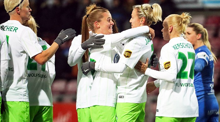 UEFA Women's Champions League - VfL Wolfsburg (8) 3-0 (1) Eskilstuna United: Hosts cruise into last eight