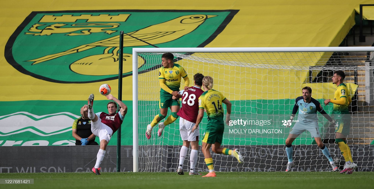 Norwich 0-2 Burnley: Nine-man Norwich slump to another defeat