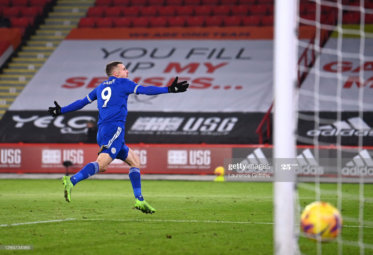Sheffield United 1-2 Leicester City: Vintage Vardy strikes late to earn Foxes win