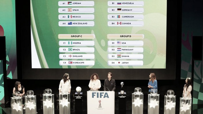 2016 FIFA Under-17 Women's World Cup Draw: England Face Tricky Group