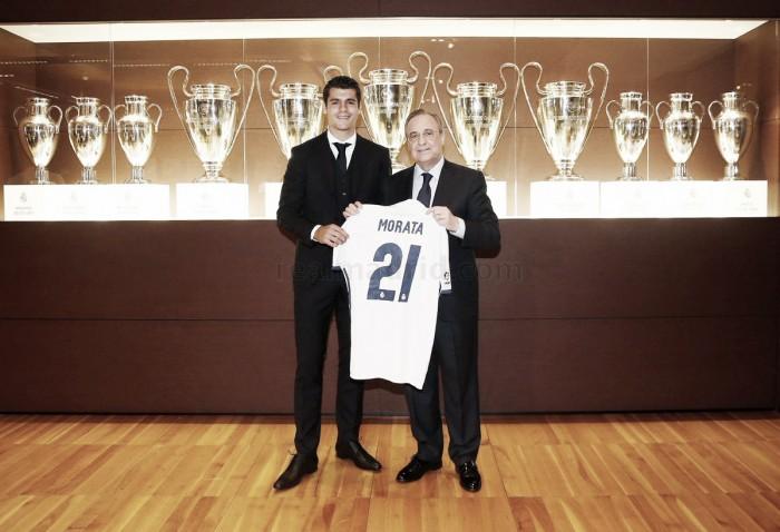 """Morata é apresentado no Real Madrid e garante valorizar oportunidade: """"Darei a vida"""""""