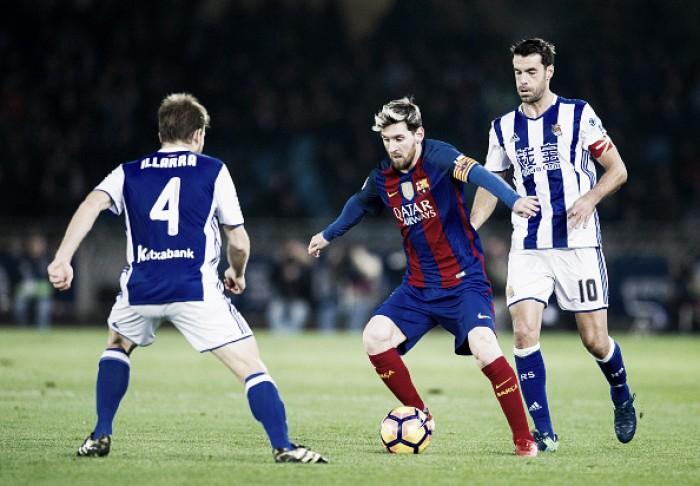 Apático, Barça leva gol de Willian José, empata com a Sociedad e fica longe do líder Real Madrid