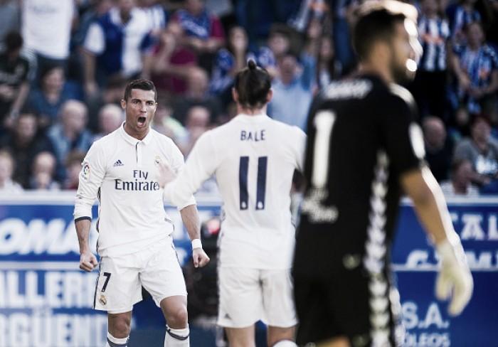 CR7 marca três, Real Madrid bate Alavés fora de casa e segue na liderança