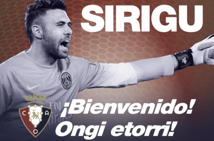 Brigando contra rebaixamento, Osasuna acerta com Sirigu até o fim da temporada