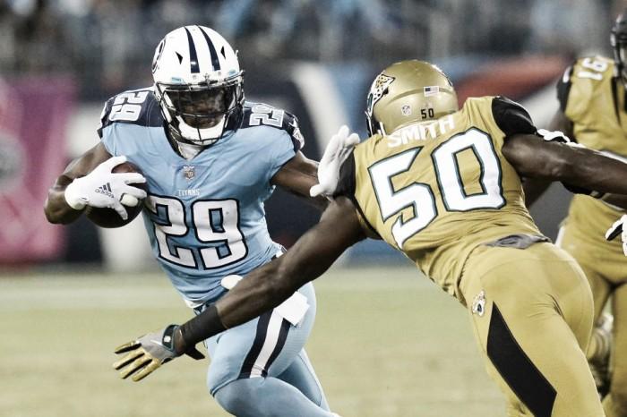 Titans amassam Jaguars na abertura da semana 8 e voltam a brigar por vaga nos playoffs