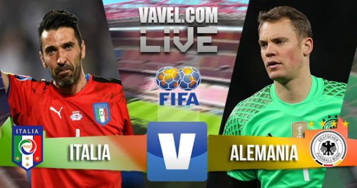Resultado Itália x Alemanha no Amistoso Internacional (0-0)