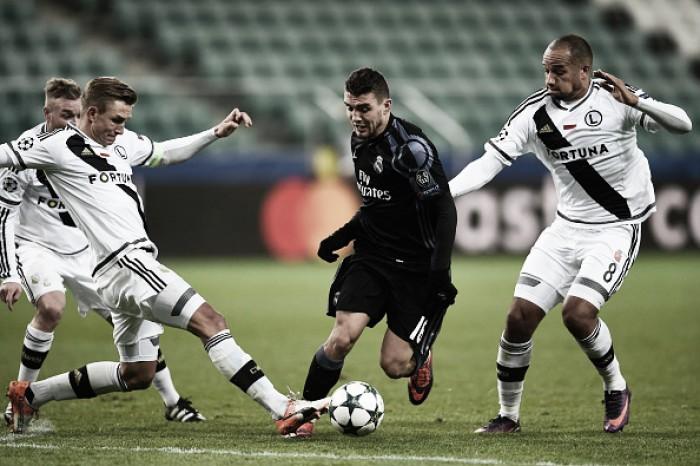 Kovacic marca no fim e evita vitória inédita do Legia sobre Real Madrid