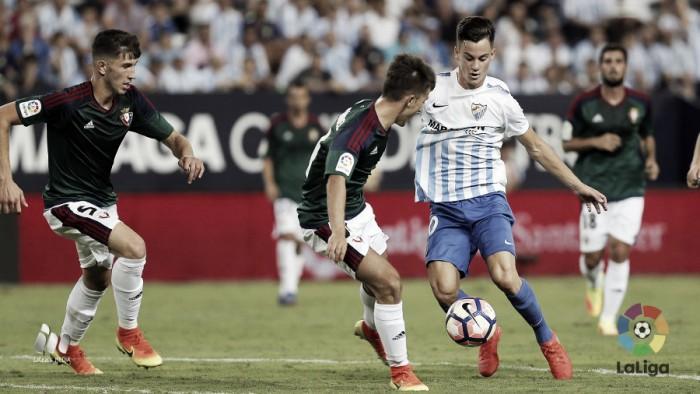 Málaga decepciona ao empatar com recém-promovido Osasuna em casa na abertura do Espanhol
